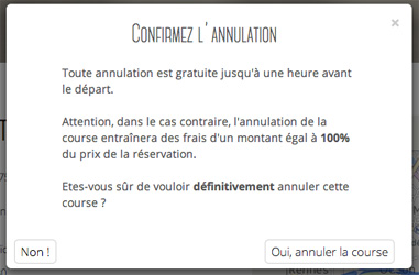 annulation de la course